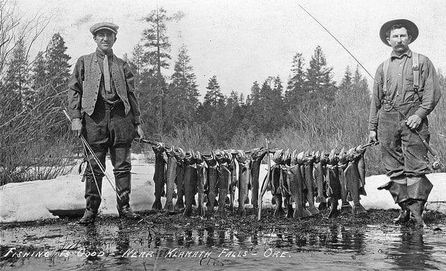 Fishing is good near Klamath Falls Oregon