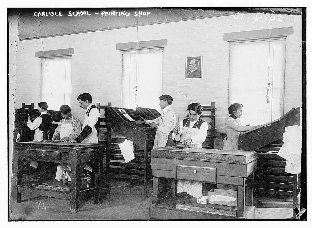 Carlisle School - Printing Shop