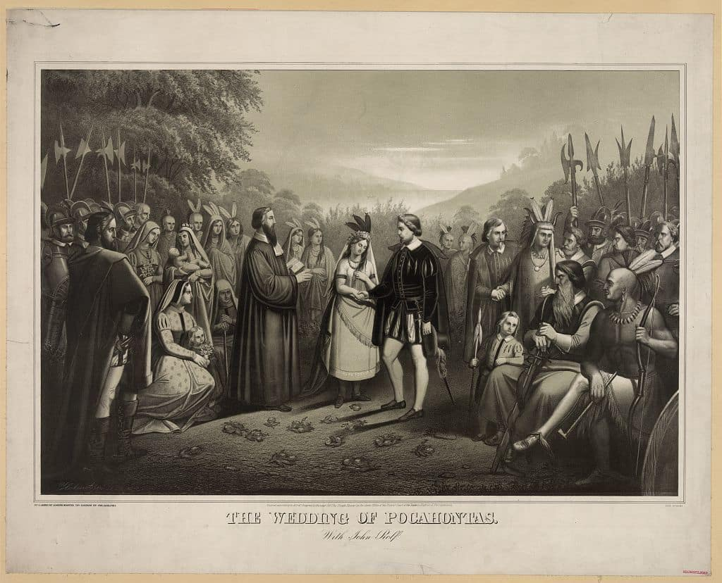 The Wedding of Pocahontas and John Rolfe