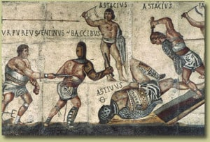 """The Gladiator Mosaic"" at the Galleria Borghese"