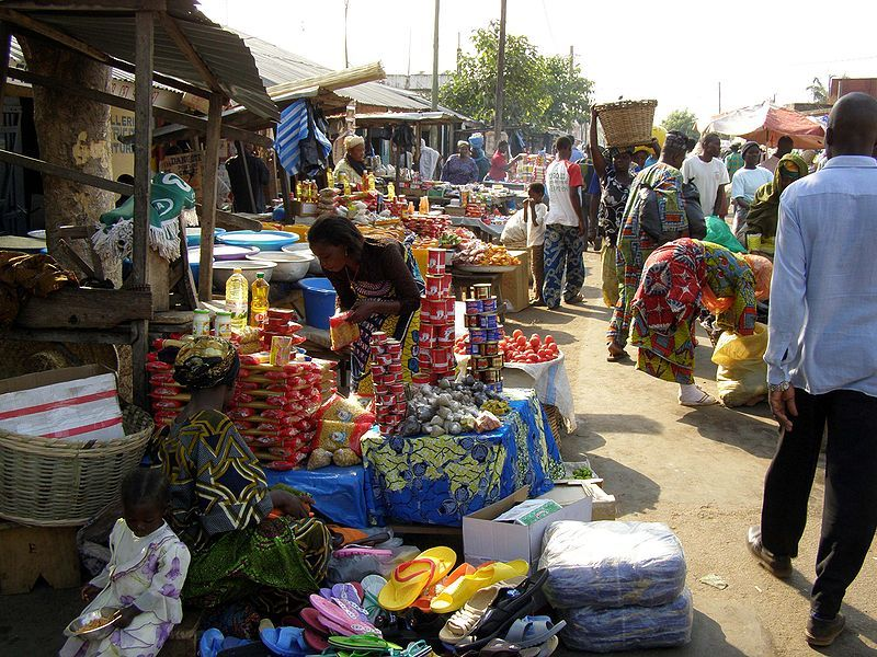 Open-Air Market in Kara, Togo