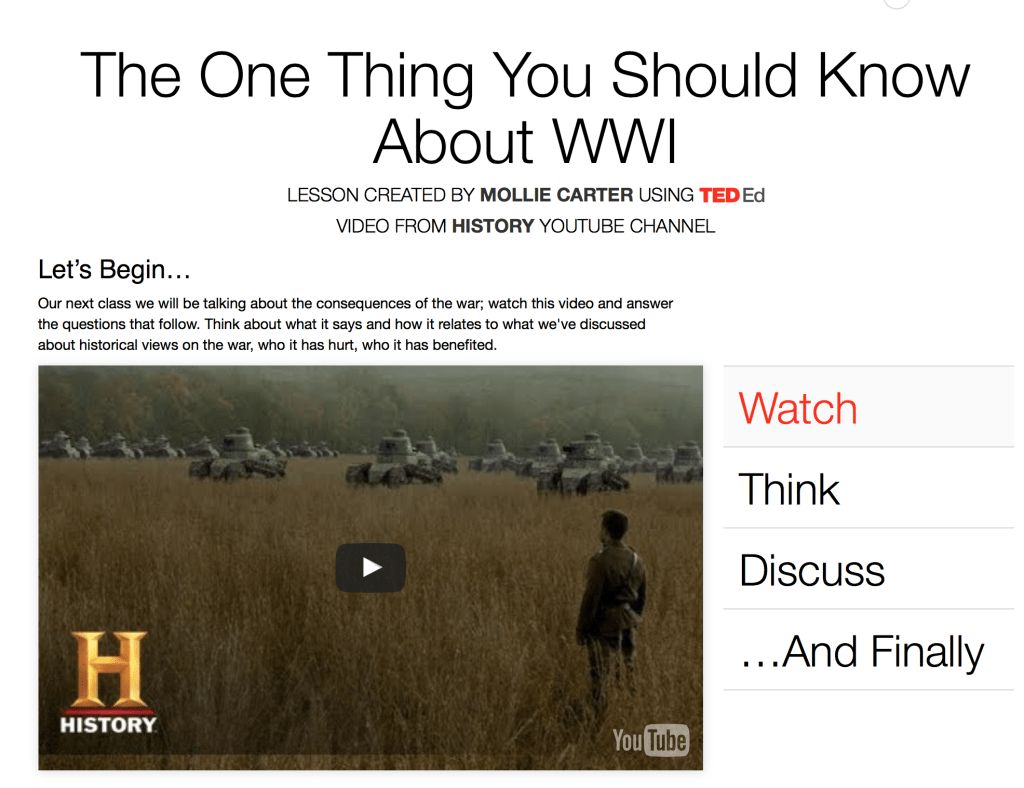 one thing about wwi