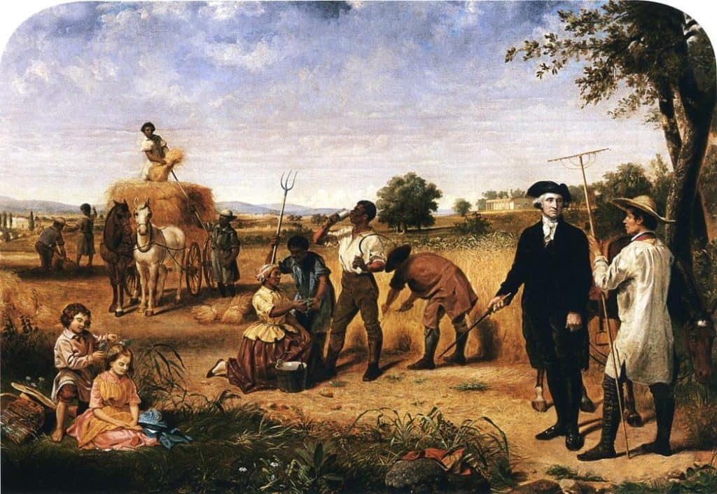 George Washington on his Mount Vernon plantation with slaves. https://en.wikipedia.org/wiki/Mount_Vernon